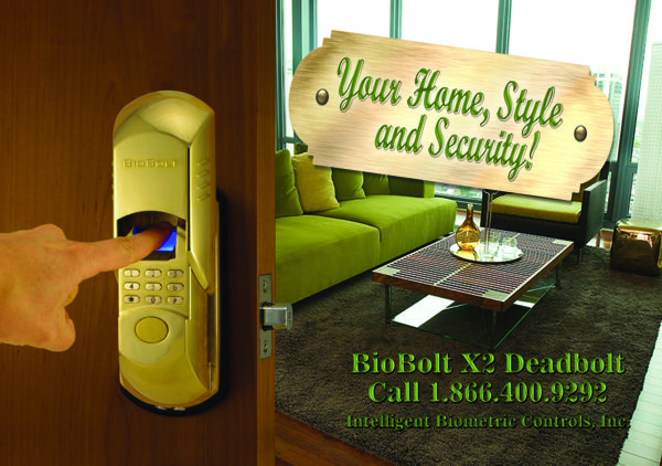BioBolt Deadbolt Lock with Style
