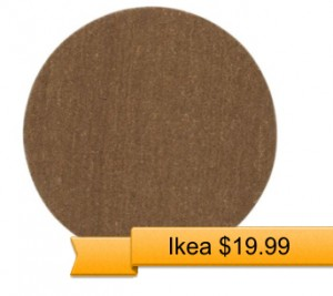 Round Brown Rug