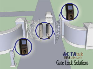 biometric, card, or pin gate access control
